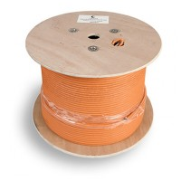 Cabeus SFTP-4P-Cat.6a-SOLID-IN-LSZH Кабель витая пара, категория 6a (10GBE) S/FTP, 4 пары (23 AWG), одножильный (solid), каждая пара в экране, общий э