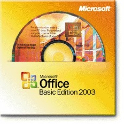 Office Basic Edition 2003 Win32 English Single package dsp oei cd w/sp2
