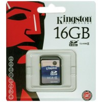 Карта памяти SDHC 16Gb Kingston SD4/16GB class 4